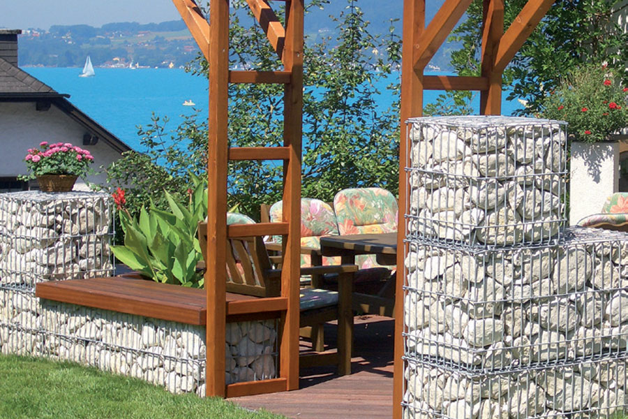 Gabbione decorativo stonebox da riempire in rete elettrosaldata